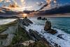 Los Urros (vladi garcía) Tags: liencres urros cantabria españa spain mar oceano cantabrico acantilados santander sea ocean atardecer sunset dawn sun sol