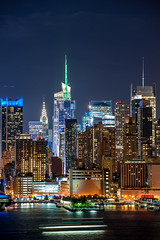 Big City 2 (tozaw) Tags: city skyscraper dark night building newyork lights longexposure manhattan