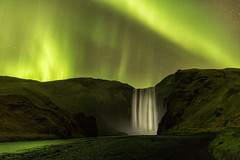 kp5 Aurora Borealis over the 200ft Skogafoss Waterfall, Iceland (MelvinNicholsonPhotography) Tags: aurora auroraborealis iceland skogafoss kp5 waterfall melvinnicholsonphotography