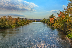 Peaceful River (http://fineartamerica.com/profiles/robert-bales.ht) Tags: emmett haybales idaho people photo places riverorstream states whitewater clouds smoothwater rapids fall treasurevalley gemcounty payetteriver river scenic water scenicbiway blue reflection season colorful scenery outdoors foliage leaves beautiful sensational spectacular riverphotography panoramic awesome magnificent peaceful surreal sublime magical spiritual inspiring inspirational canonshooter trees wow bank reflections robertbales payette