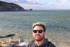 Craig at the Needles (ec1jack) Tags: ec1jack kierankelly canoneos600d isleofwight solent england britain uk europe november 2017 autumn island britishisles theneedles alumbay ocean coast chalk whitecliffs