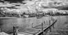 Laguna de la cocha - Cocha lagoon (Luis FrancoR) Tags: colombia pasto laguna lagunadelacochacochalagoon blanconegro blackwhite blancoynegro black negro ngc ng lagoon pier puerto