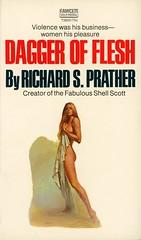 Gold Medal Books T2625 - Richard S. Prather - Dagger of Flesh (swallace99) Tags: goldmedal fawcett vintage 70s murder mystery amnesia paperback handbra callipygian