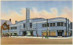 Greyhound Bus Terminal, Louisville, Kentucky (SwellMap) Tags: postcard vintage retro pc 30s 40s 50s 60s thirties forties sixties fifties roadside midcentury atomicage nostalgia americana advertising coldwar artdeco linen design style architecture building