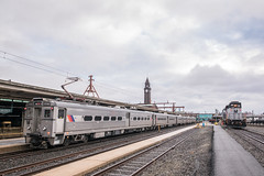 MU Mornings (Nick Gagliardi) Tags: train trains railroad new jersey transit njt njtr hoboken terminal division arrow iii mu electric multiple unit emu emd diesel gp402 work engine