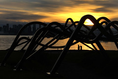Sunset at Waterfront Park (ruthlesscrab) Tags: sunset cathedral sculpture senft waterfrontpark northvancouver bc canada