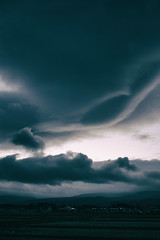 Twisted (jasohill) Tags: autumn october color sunset tohoku nature city iwate red hachimantai photography life sky evening lenticular drama japan clouds