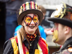 castleton morris dancers 2017 christmas lights switch on  (3) (Simon Dell Photography) Tags: powder kegs morris dancers castleton derbyshire countryside peak district simon dell photography autumn winter 2017 old english village christmas lights switch november street xmas tree decorations church peveril castle river house town