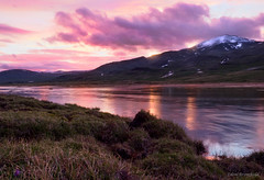 Sunset in the Torngats (Eden Bromfield) Tags: torngatmountains snow arctictundra korocriver kuururjuaq nunavik canada wilderness tundra edenbromfield sunset clouds permafrost ice mountains river sedges