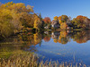 A Massachusetts Autumn Idyll (RobertCross1 (off and on)) Tags: 20mmf17panasonic boston em5 ellpond ma massachusetts melrose newengland omd olympus architecture autumn bluesky fall foliage house lake landscape leaves nature pond reflection trees water
