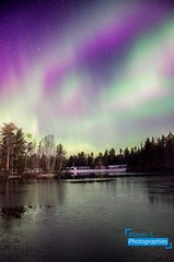 Northern Lights at home (Warren Qc) Tags: northen light aurore boreale aurora borealis lac lake joly saint honore aeroport nuit ciel night sky etoile star saguenay quebec canada winter north true