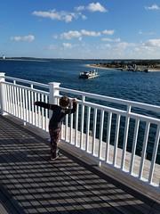 Here comes the ferry! (quinn.anya) Tags: sam preschooler ferry chappyferry edagrtown marthasvineyard