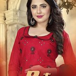 GANGOUR PATANG EXCLUSIVE COTTON DRESS MATERIALS WITH NAZNIN WORK DUPTTA CATALOGUE WHOLESALE RATE thumbnail