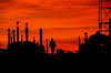 Morning...... (tomk630) Tags: virginia work construction sunrise winter cold worker city urban usa colors