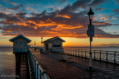 Penarth Pier (geraintparry) Tags: penarth pier sky skies cloud clouds south wales beach cardiff reflection water landscape coast sea morning outdoor seaside shore dawn skyline boardwalk geraint parry geraintparry sunrise