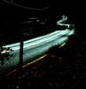 night road (DreamExpose) Tags: neon fluorecent blue white stripe yellow ribbon swirling swirl