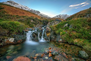 Waterfall from the Old Military Road, Glen Coe