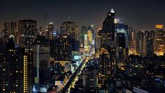 (Sunrider007) Tags: sony 100400 100400mm gm gmaster bangkok skyline cityscape landscape night city urban sukhumvit thailand panorama pano stitched stitching light nightlife downtown road train railway transport station phromphong thonglor bts