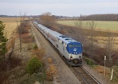 Past two mileposts (Michael Berry Railfan) Tags: amtrak coopersville ny newyork canadiansub cp canadianpacific dh delawarehudson ge generalelectric p42dc toysfortots toysfortotstrain amtk88