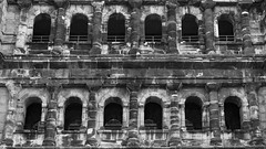 Porta Nigra Arches - Trier (bvi4092) Tags: nikon d300s nikkor 18105mmf3556 nikon18105mmf3556 photoshop travel europe germany trier portanigra interior arch architecture building ruin blackandwhite bw historic city