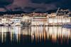 Like fireworks in water (FButzi) Tags: genova genoa liguria italia italy porto antico lights reflections biosfera biosphere renzo piano aquarium