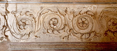 Italy Pompeii wall sculpture detail (itsabreeze) Tags: italypompeii stone wall carving ancient sculpture flowers