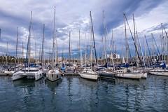 Mástiles (jlmontes) Tags: azul barcos mar puerto spain barcelona samyang14mm nikond3100