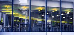 Bankside Windows (CactusD) Tags: bankside london england unitedkingdom united kingdom gb greatbritain great britain d800e fx hasselblad xpan xpan2 film 90mm 60mmf28afsmicro 60mm afs f28 micro macro digitized windows turbinehall reflection fujifilm fujipro400h pro400h panoramic pano street