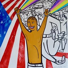 The American Dream (MATLAKAS) Tags: flag matlakas art painting justice contemporaryart riccardomatlakas rainbow americandream