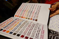 Ink swatches (mishka5050) Tags: londonukpenclub fountainpens fountainpenink handwriting