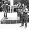 Speakers Corner - Brisbane (boeckli) Tags: brisbane sculpture brisbanecity queensland australia au speakerscorner emmamiller sircharleslilley steelerudd skulptur bronze blackandwhite blackwhite bw schwarzweiss 7dwf