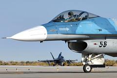F-16A Fighting Falcon I 900947/56 I NAWDC 'TOPGUN' NAS Fallon (MarkYoud) Tags: nas fallon nevada nawdc topgun us navy f16 falcon adversary coloured camo military fast jet