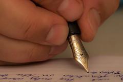 Thoughts at my fingertips (Özgür Gürgey) Tags: macromondays 105mm 2017 fingertips homosapiens nikon sigma visconti fountainpen ink macro nib paper writing istanbul