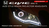 AGHC961CW,HONDA Civic 2006-13 EVOQUE Style DRL Projector Headlight (autoglamin) Tags: hondacivic civicprojectorheadlamp hondacivicheadlamp hondaciviclights modifiedheadlights caraccessories carheadlights projectorheadlamp hondacivic2016 aftermarketheadlamps autoglam