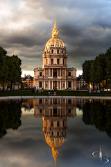 Dôme des Invalides // Paris (www.didierbonnettephotography.com) Tags: reflets puddle paris france invalides sky ciel nuages clouds