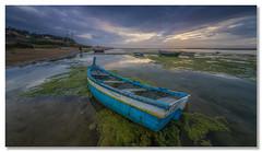 The agony of lost time (João Cruz Santos) Tags: seascape waterscape landscape boat lagoadealbufeira sunset sesimbra portugal