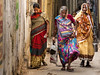 Colorful women (Dick Verton ( more than 12.000.000 visitors )) Tags: india varanasi asia woman alley colorful streetview streetshot traveling streetlives