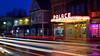 Hamburg Palace Theatre at Blue Hour (DTD_9437) (masinka) Tags: theatre theater palace hamburg ny newyork neon marquee etbtsy urban photography cityscape dusk blue hour light trails longexposure reflections wet rain pavement buffalo