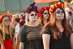 Dead on parade (radargeek) Tags: 2016 dayofthedead okc oklahomacity plazadistrict flowers facepaint parade tattoo