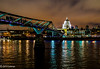 Walk to St Pauls (jeffcoleman372) Tags: cathedral city lights nightlife millenniumbridge water reflections london stpauls