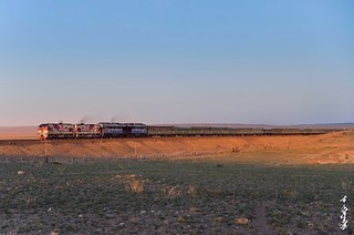 Sunset time in Gobi desert...
