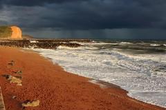 Deep shade of blue (stumacher55) Tags: uk sand sunset weather horizon seascape landscape canon tides waves dorset cliff beach coast sea ocean