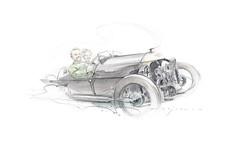 morgan coloiur s (Stefan Marjoram) Tags: car sketch vintage art drawing watercolour