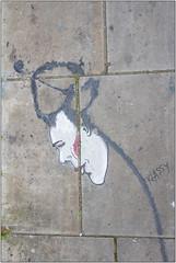Cap & Pigtail (Mabacam) Tags: 2017 london shoreditch eastend street pavement streetart paint klassy portrait