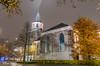 Grote kerk, Emmen (Rene Mensen) Tags: grote kerk emmen thenetherlands d5100 drenthe nikon nikkor night light long exposure autumn old church