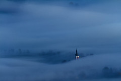 Shades of Blue (Bonnie And Clyde Creative Images) Tags: landscapes canon mist blue church