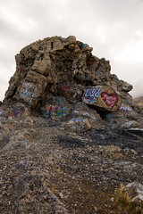 Black Rock (O.S. Fisher) Tags: 5d blackrock canon canon5dmarkiii greatsaltlake mark3 markiii marryme osfisher olivershaunfisher photo utah dirt graffitti highdesert landscape photograph photography road shaunfisher