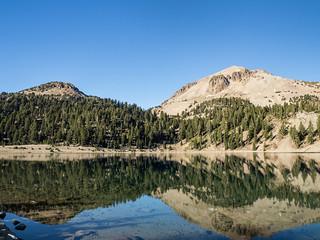 Eagle Peak & Lassen Peak from Lake Helen