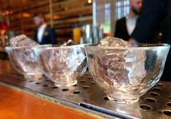 shoju selection (n.a.) Tags: roka canary wharf london e14 docklands japanese restaurant glasses shots ice wood selection tasting shoju