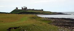 Dunstanburgh Castle (Worthing Wanderer) Tags: northumberland july overcast summer coast seaside castle beach dull